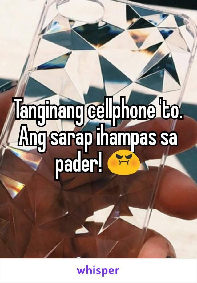 Tanginang cellphone 'to. Ang sarap ihampas sa pader! 😡