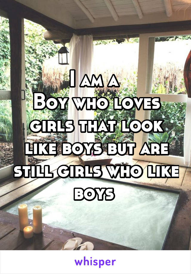 I am a  Boy who loves girls that look like boys but are still girls who like boys