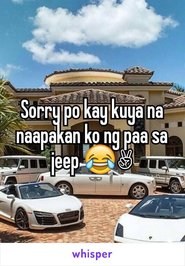 Sorry po kay kuya na naapakan ko ng paa sa jeep 😂✌