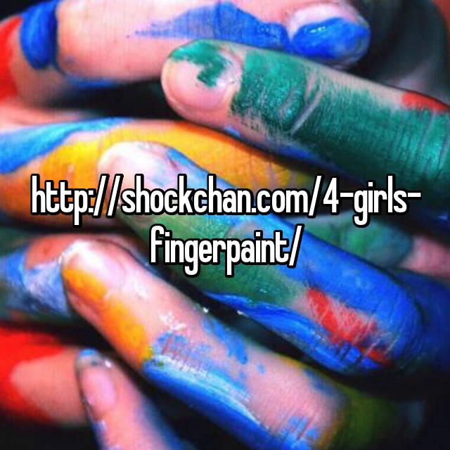 4girls finger paint