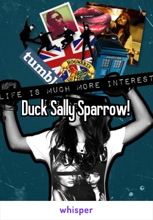 Duck Sally Sparrow!