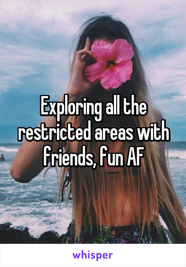 Exploring all the restricted areas with friends, fun AF