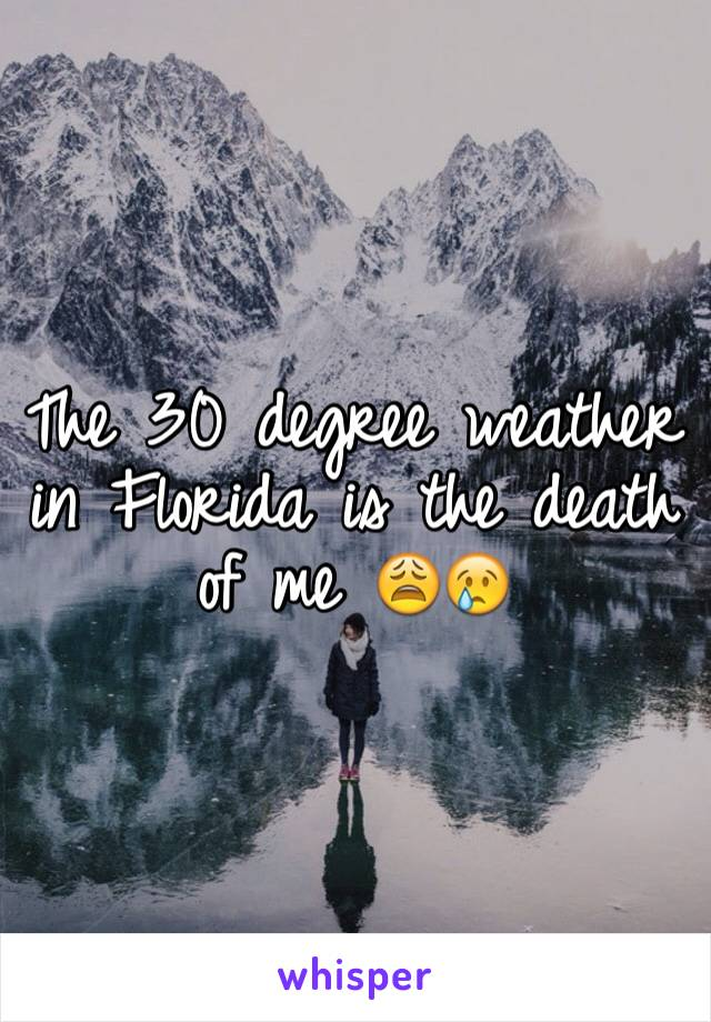 The 30 degree weather in Florida is the death of me 😩😢