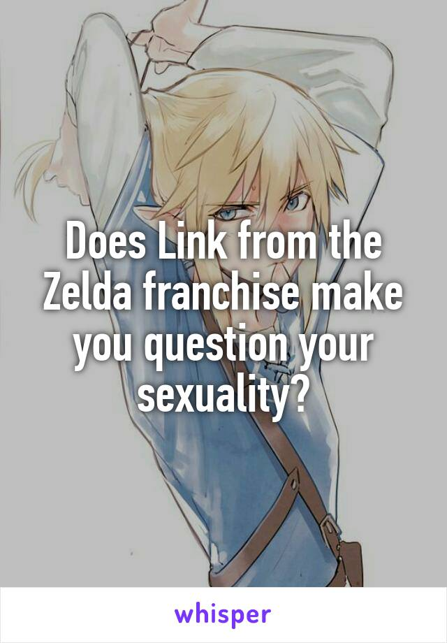Does Link from the Zelda franchise make you question your sexuality?