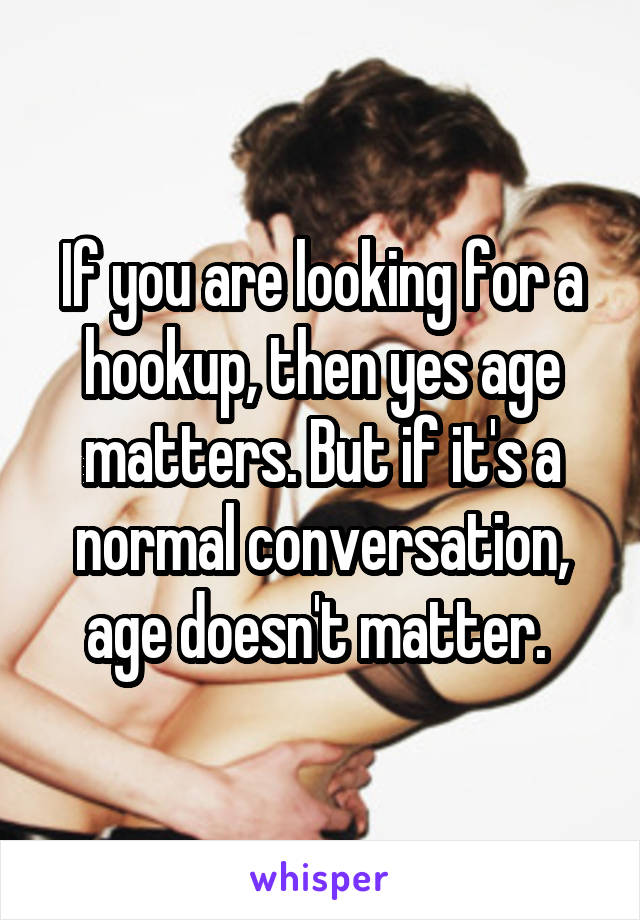 What age do u start hookup