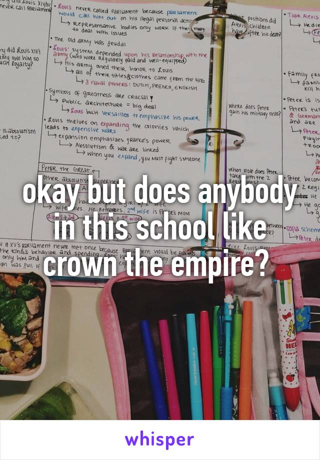 okay but does anybody in this school like crown the empire?