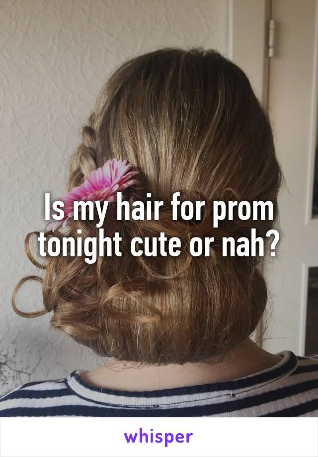 Is my hair for prom tonight cute or nah?