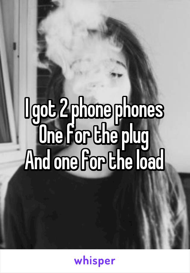 I got 2 phone phones  One for the plug  And one for the load