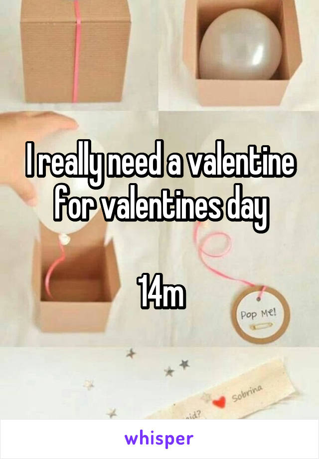I really need a valentine for valentines day  14m