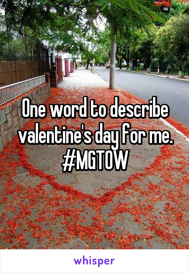 One word to describe valentine's day for me. #MGTOW