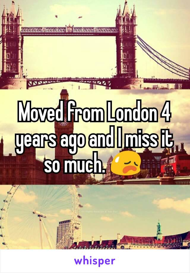 Moved from London 4 years ago and I miss it so much. 😥