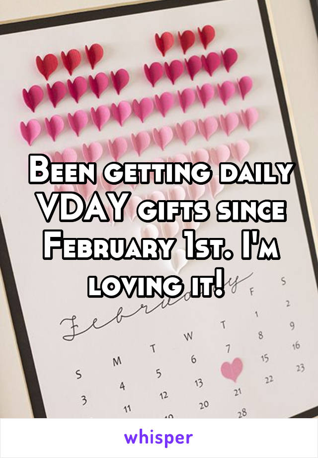 Been getting daily VDAY gifts since February 1st. I'm loving it!