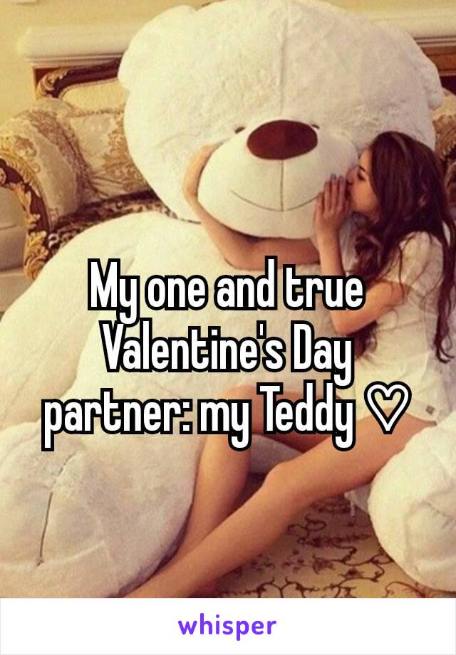 My one and true Valentine's Day partner: my Teddy ♡
