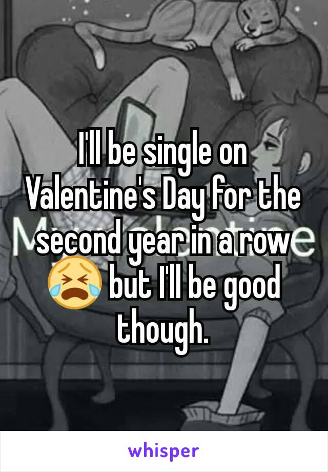I'll be single on Valentine's Day for the second year in a row😭 but I'll be good though.