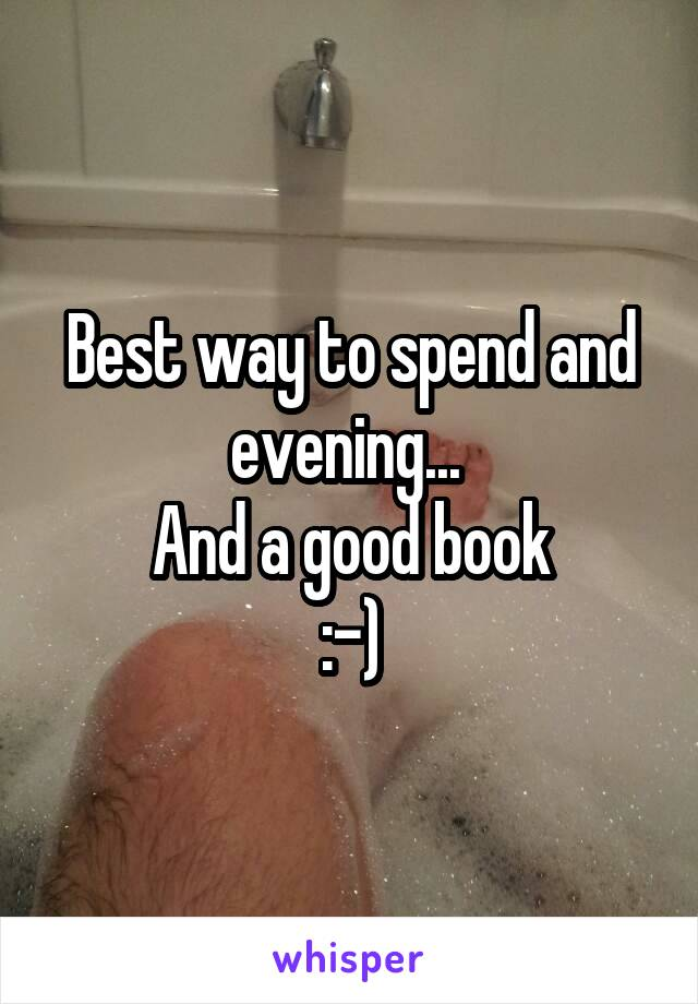 Best way to spend and evening...  And a good book :-)