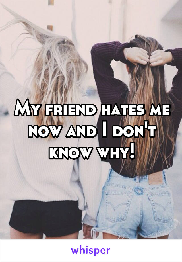 My friend hates me now and I don't know why!