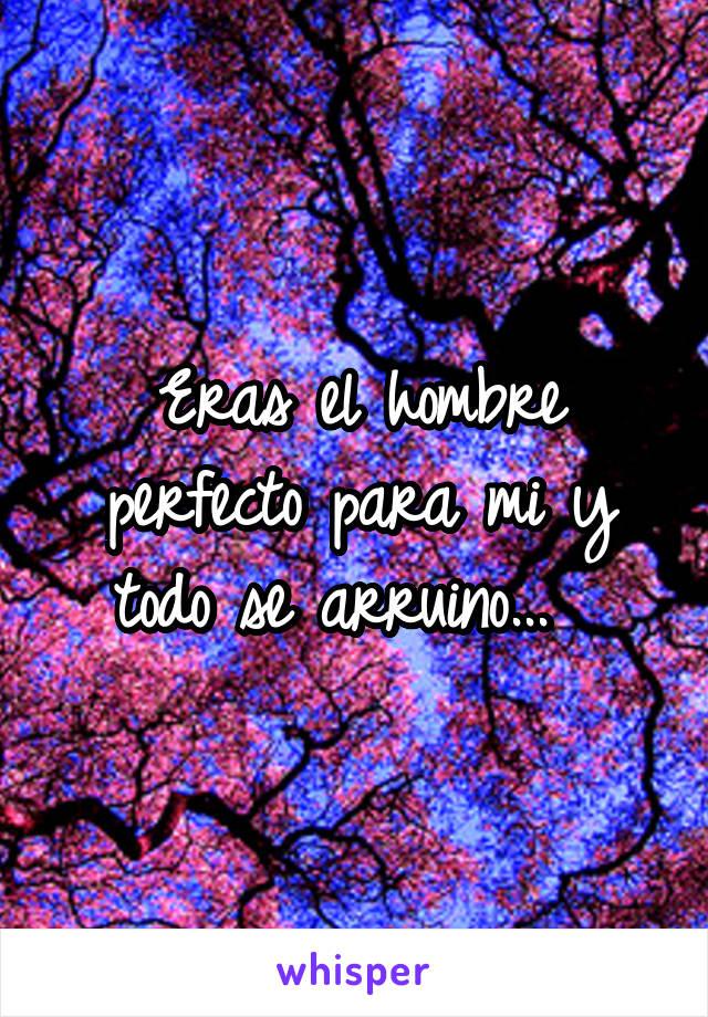 Eras el hombre perfecto para mi y todo se arruino...