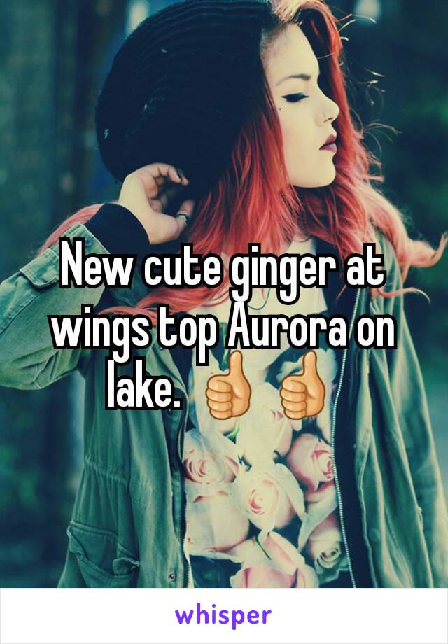 New cute ginger at wings top Aurora on lake. 👍👍