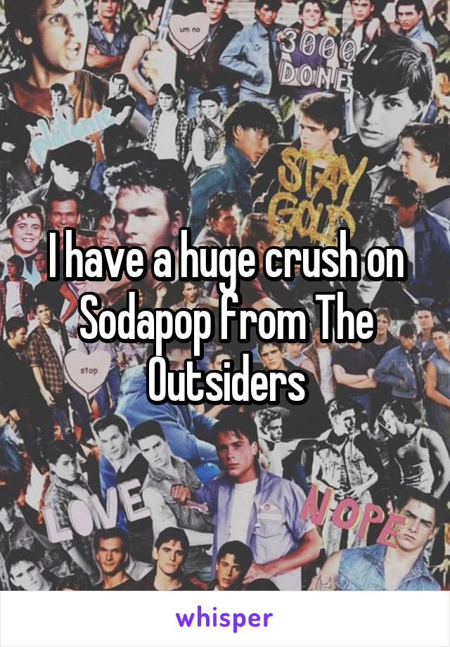 I have a huge crush on Sodapop from The Outsiders