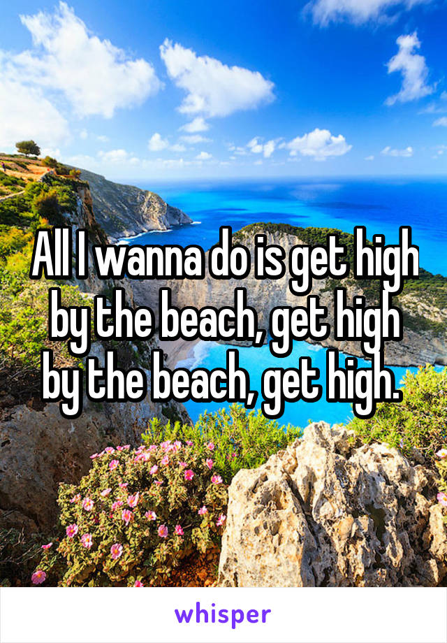 All I wanna do is get high by the beach, get high by the beach, get high.