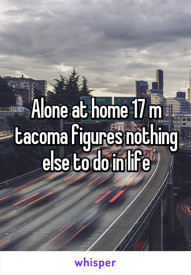 Alone at home 17 m tacoma figures nothing else to do in life