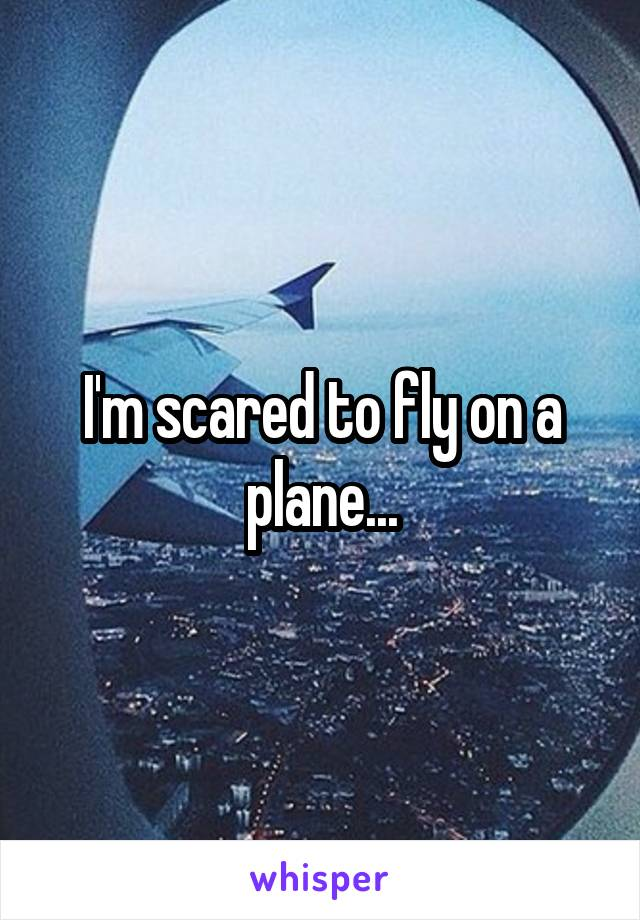 I'm scared to fly on a plane...