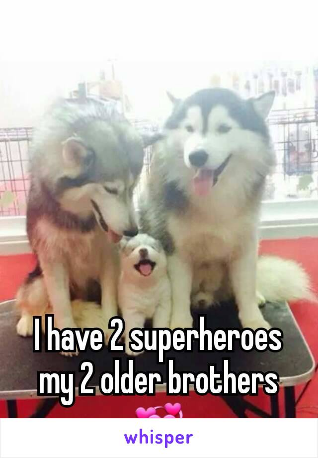 I have 2 superheroes my 2 older brothers💞