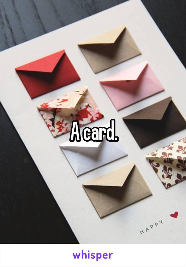 A card.