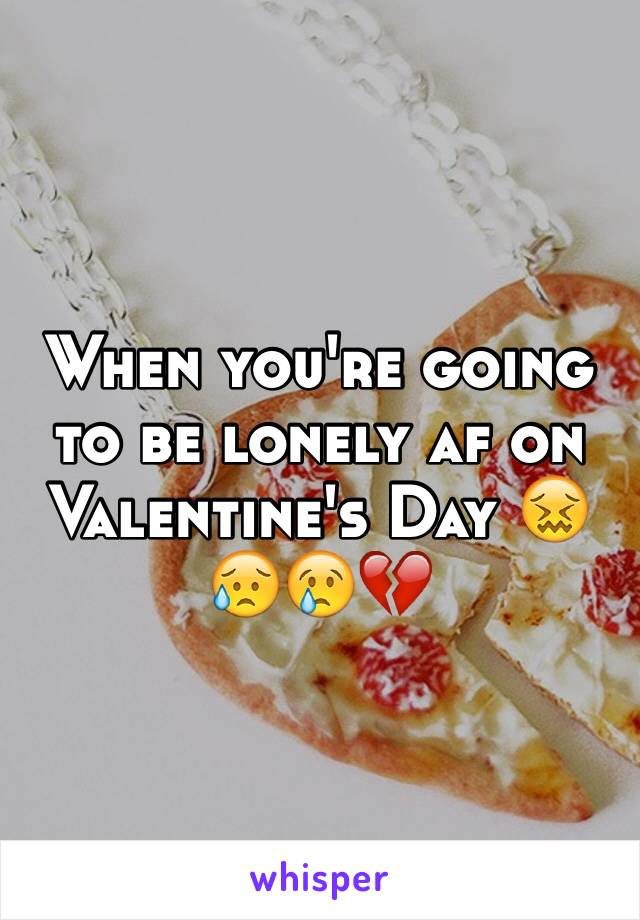 When you're going to be lonely af on Valentine's Day 😖😥😢💔