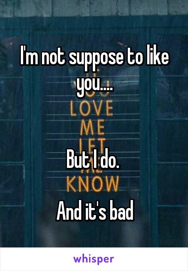 I'm not suppose to like you....   But I do.   And it's bad