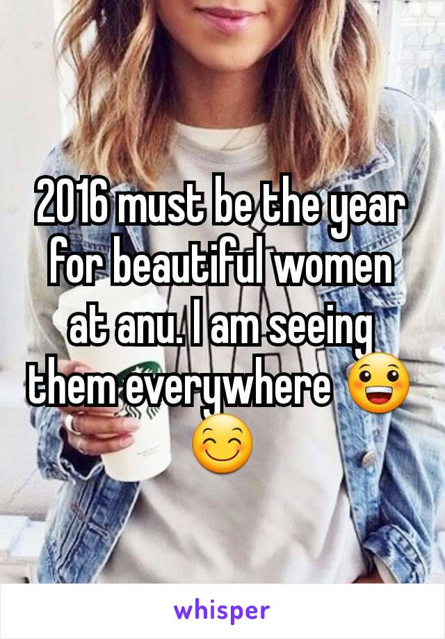 2016 must be the year for beautiful women at anu. I am seeing them everywhere 😀😊
