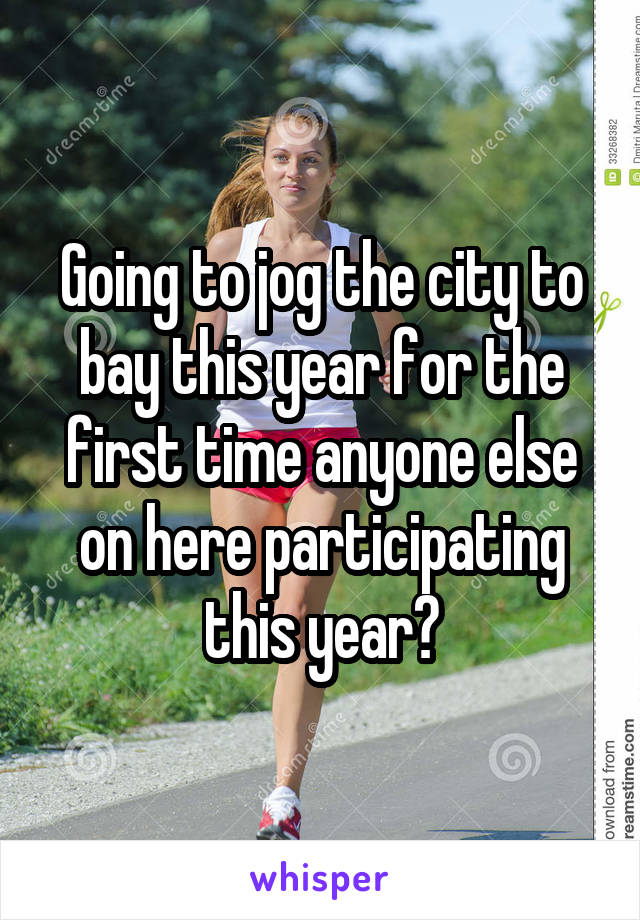 Going to jog the city to bay this year for the first time anyone else on here participating this year?