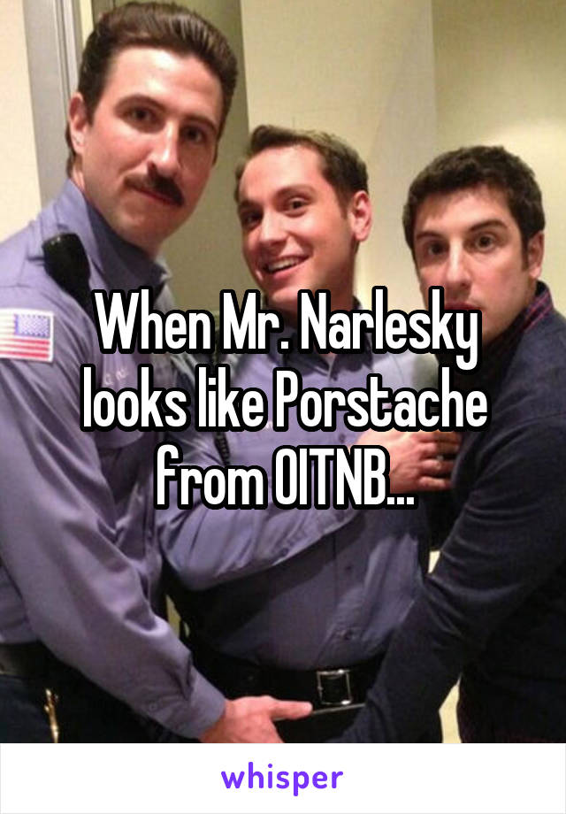 When Mr. Narlesky looks like Porstache from OITNB...