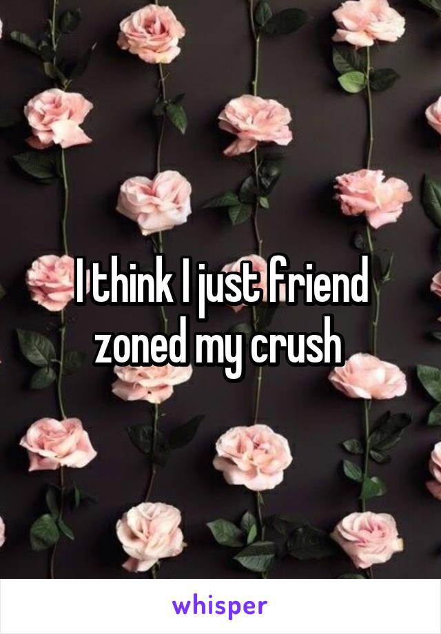 I think I just friend zoned my crush