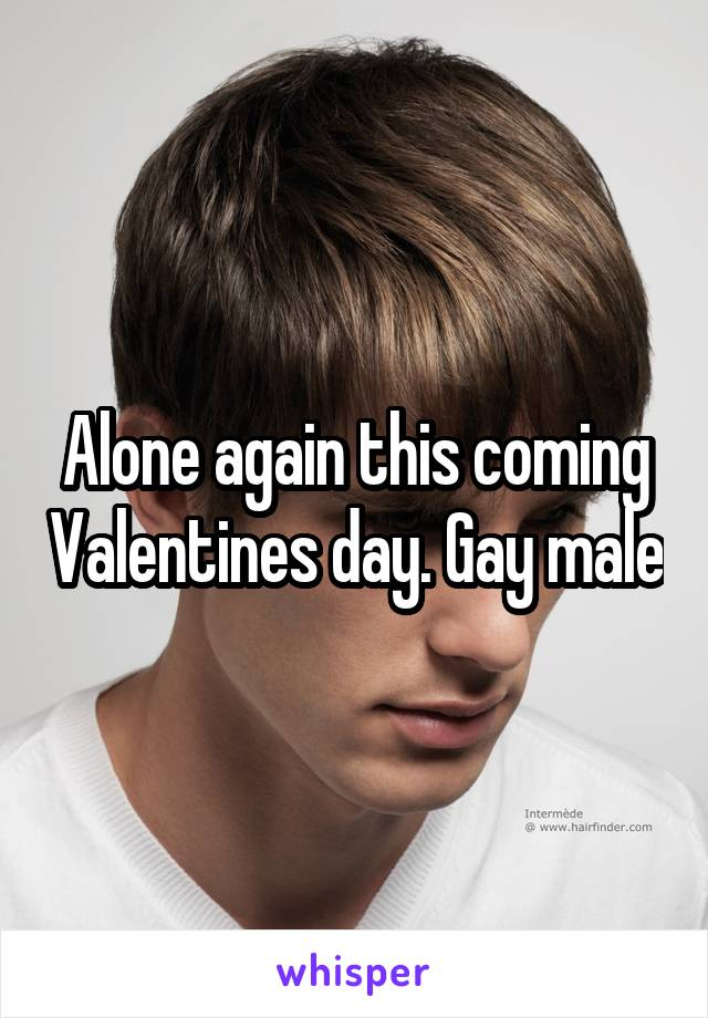 Alone again this coming Valentines day. Gay male