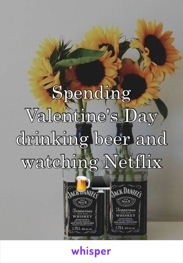 Spending Valentine's Day drinking beer and watching Netflix 🍺🖥