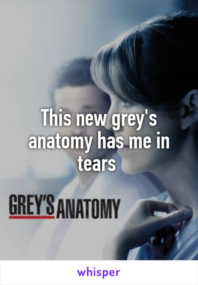 This new grey's anatomy has me in tears