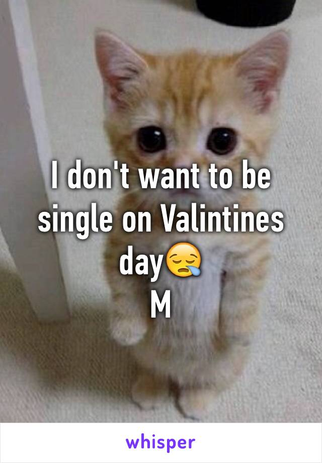 I don't want to be single on Valintines day😪 M
