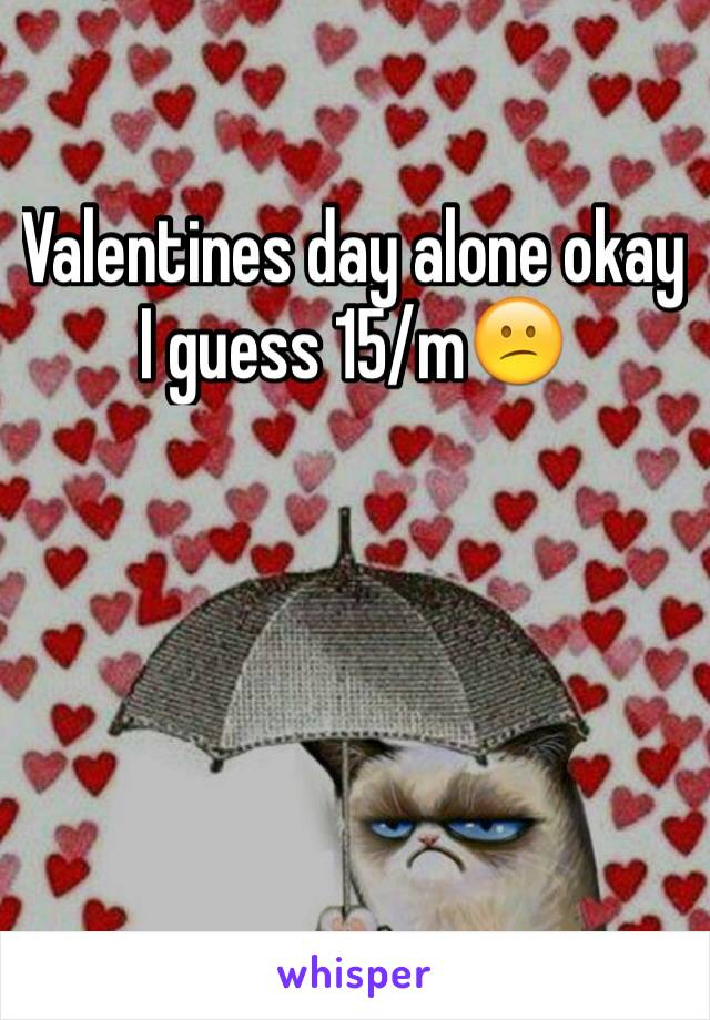 Valentines day alone okay I guess 15/m😕