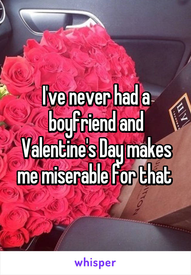 I've never had a boyfriend and Valentine's Day makes me miserable for that