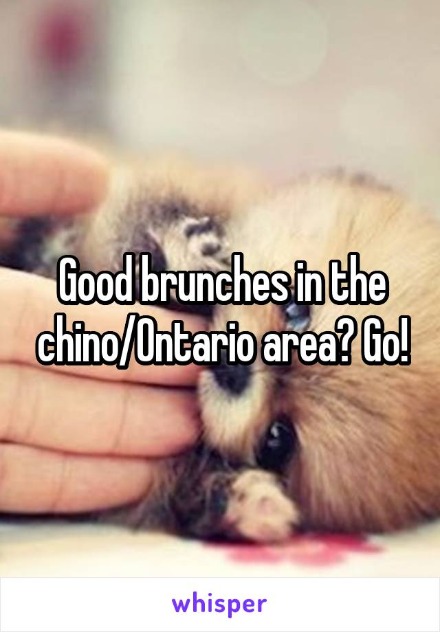 Good brunches in the chino/Ontario area? Go!