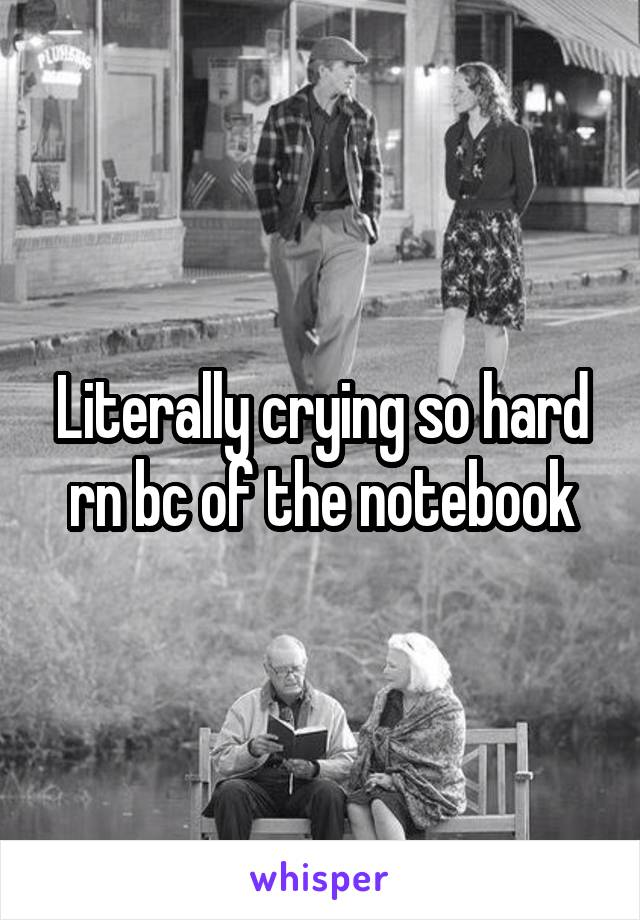 Literally crying so hard rn bc of the notebook
