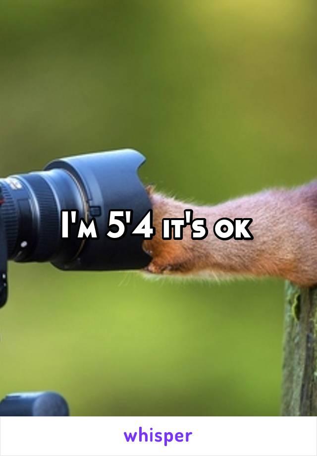 I'm 5'4 it's ok