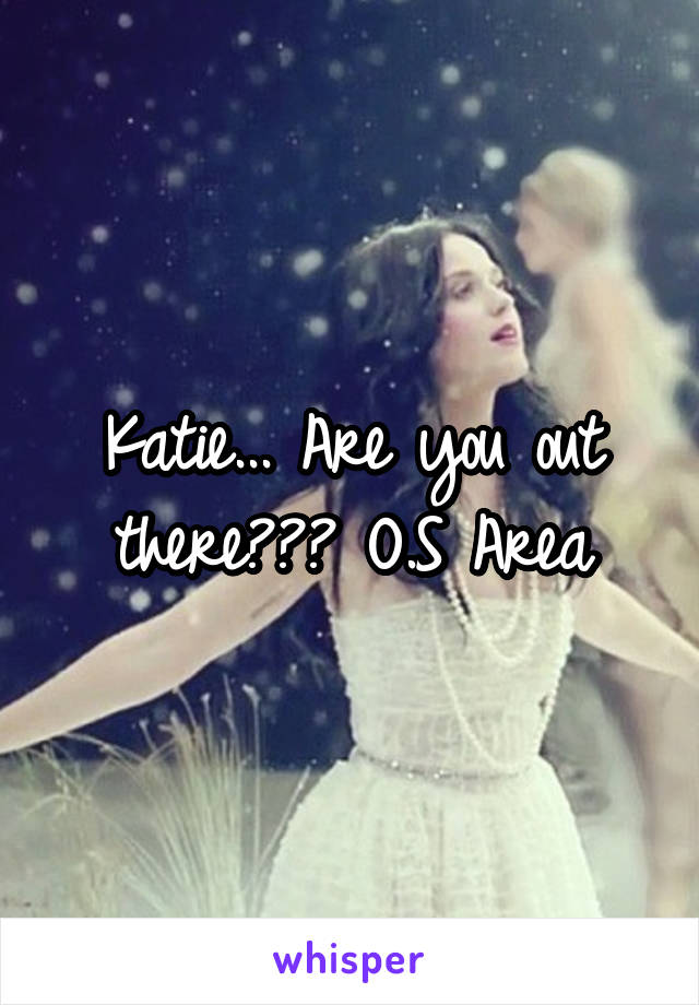 Katie... Are you out there??? O.S Area