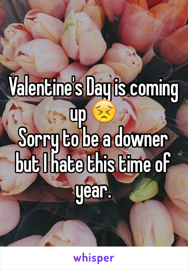 Valentine's Day is coming up 😣  Sorry to be a downer but I hate this time of year.