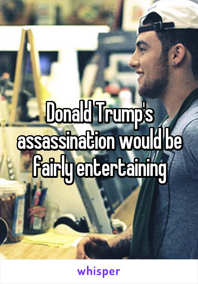 Donald Trump's assassination would be fairly entertaining