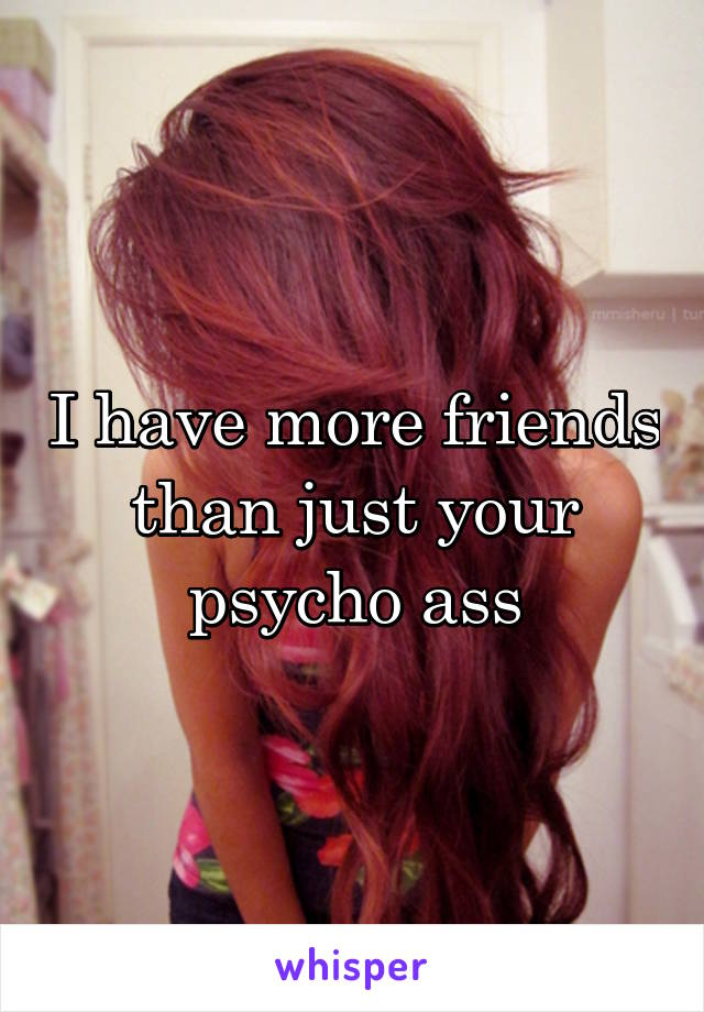 I have more friends than just your psycho ass