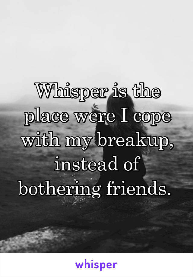 Whisper is the place were I cope with my breakup, instead of bothering friends.