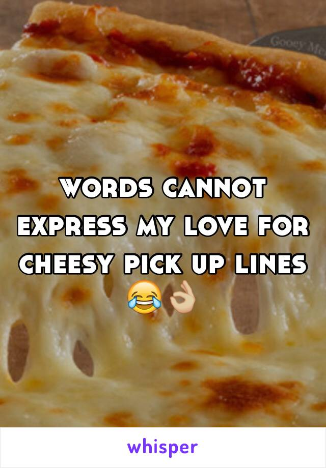 words cannot express my love for cheesy pick up lines  😂👌🏼