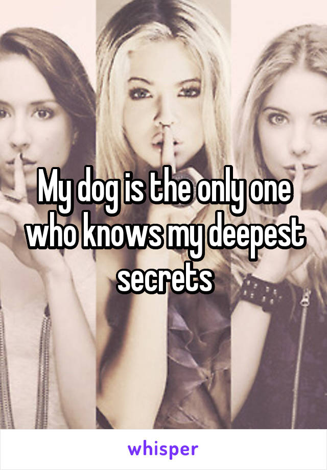 My dog is the only one who knows my deepest secrets